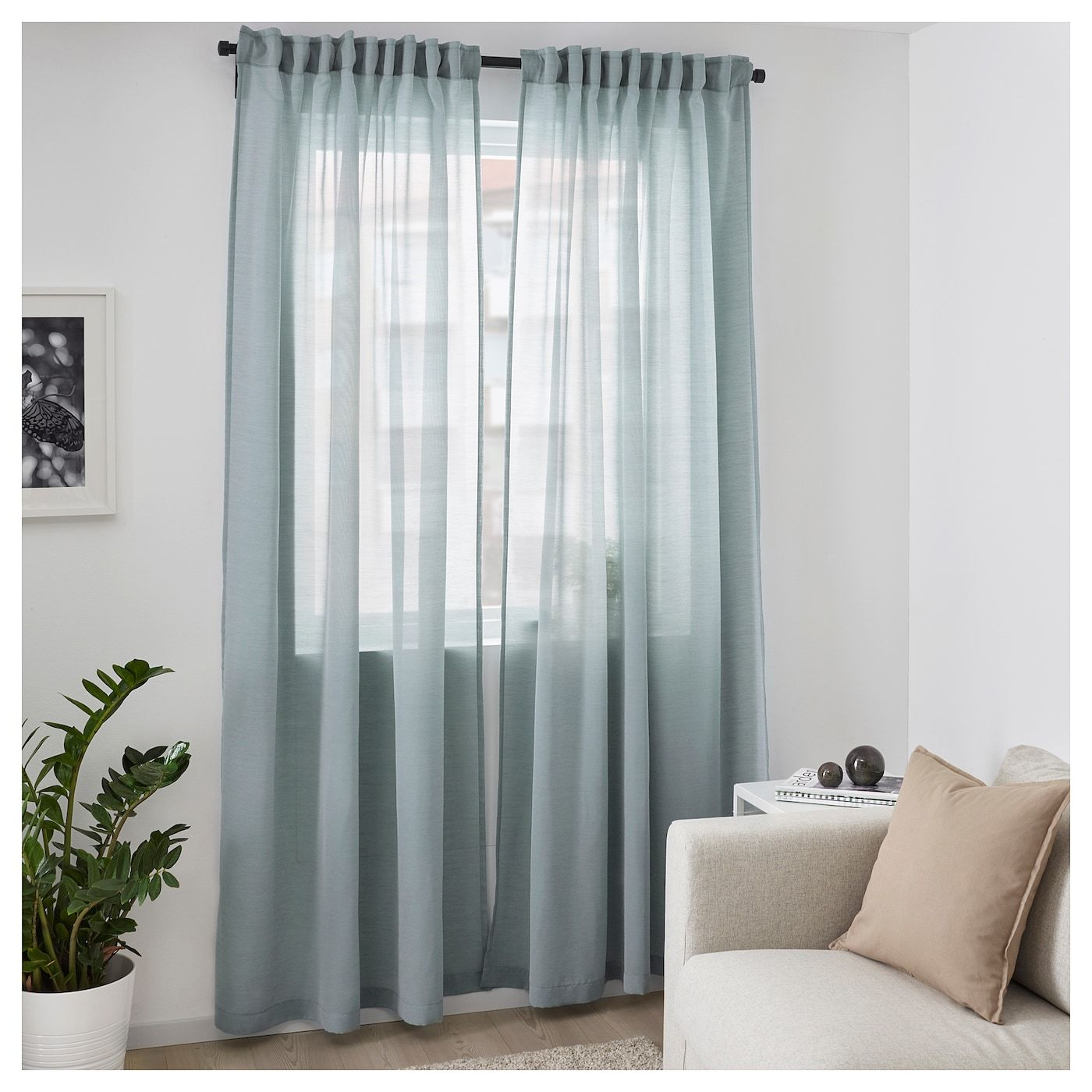 Ikea Gardinen Schlafzimmer Gardinenpaar Hilja Blau In 2019 Home Decoration Curtains Ikea