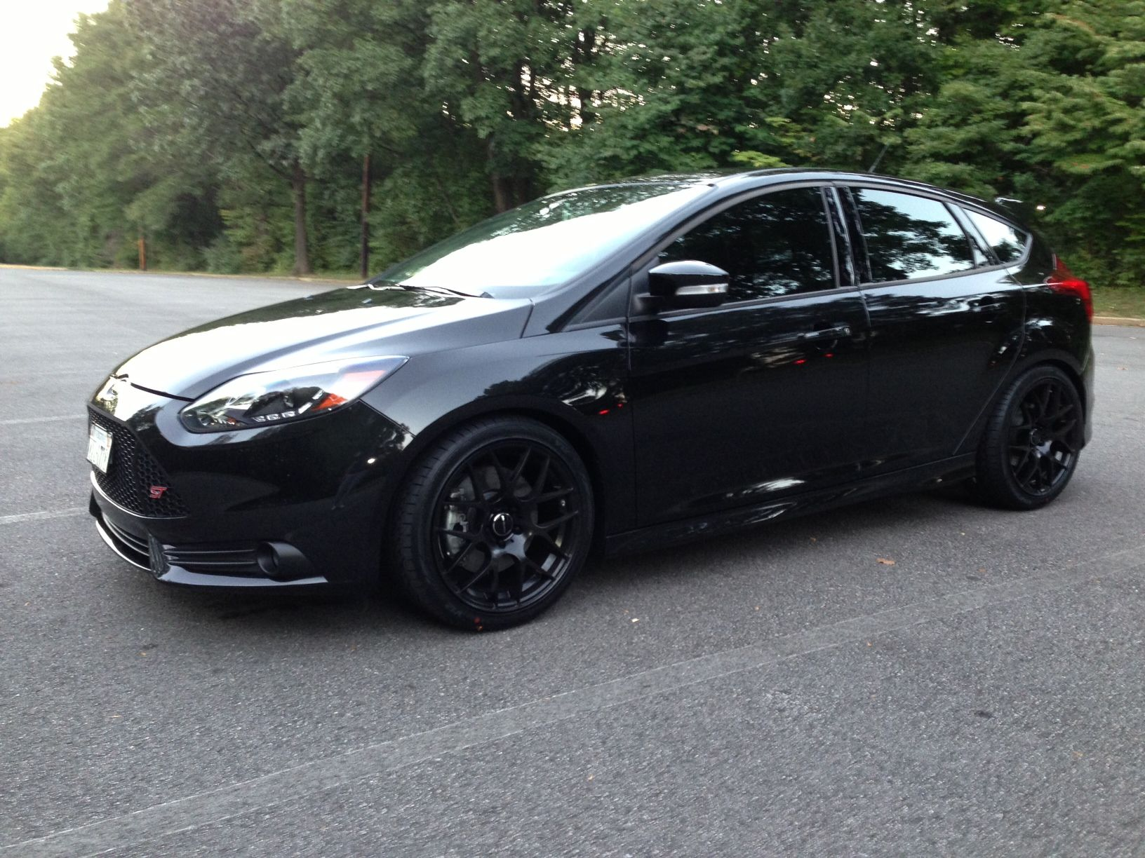 All Black Ford Focus St Black Rims Ford Focus Hatchback Ford