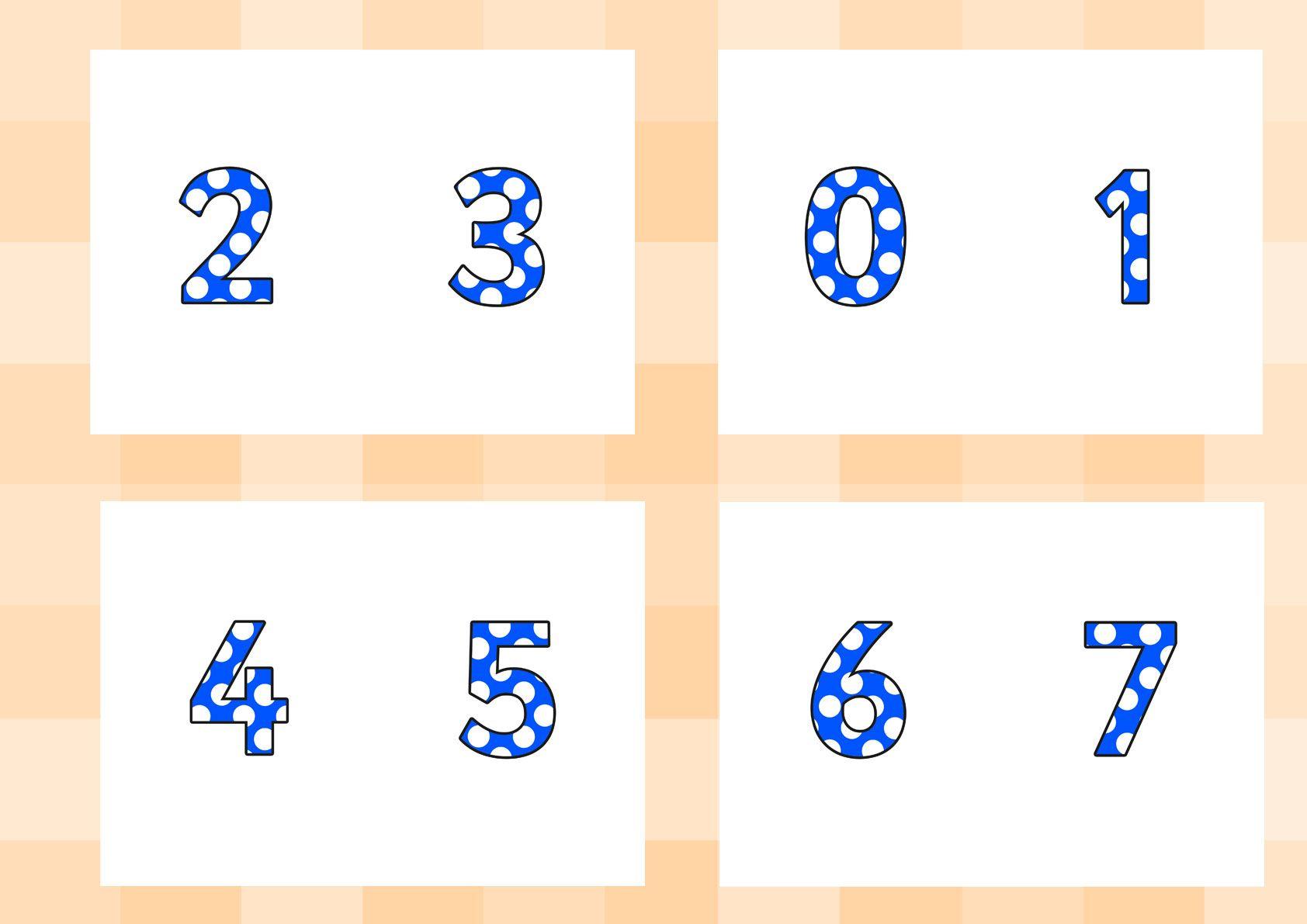 Twinkl Resources >> Polka Dot Display Numbers >> Printable