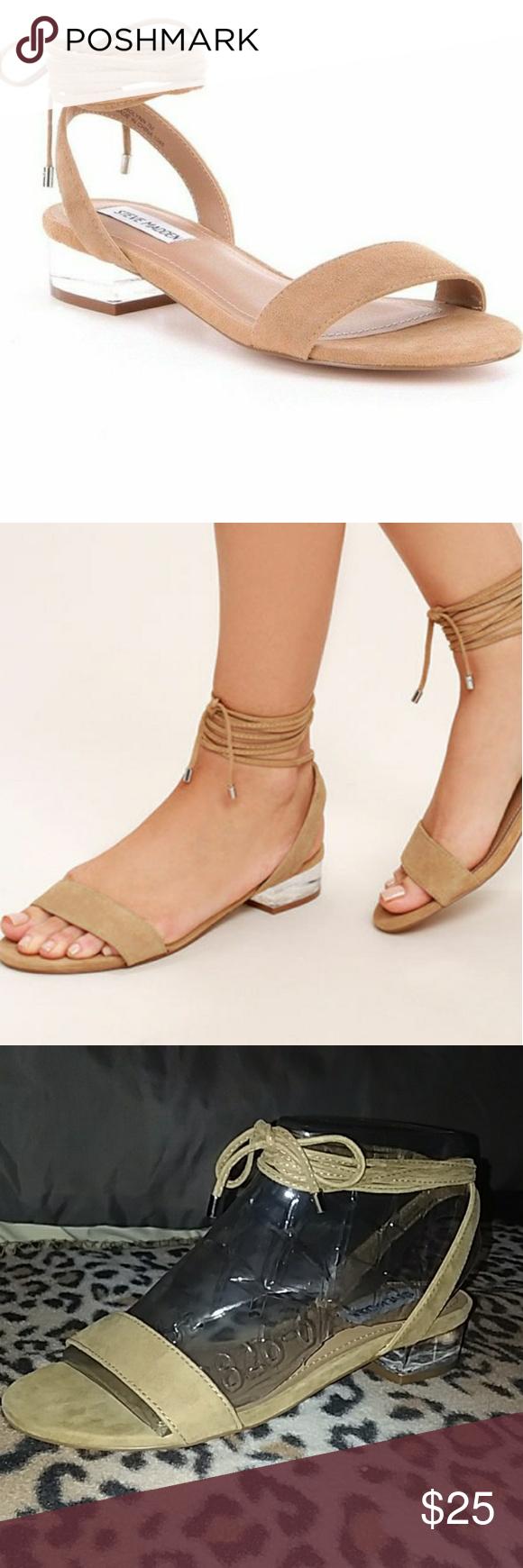 73a378e773a STEVE MADDEN SIZE 6 CAROLYN Clear heel sandal Unworn!!! Manufacturer  Steve  Madden