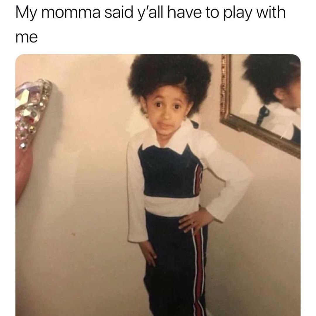 Cardi B My Momma Said Memes Young Rapper Funny Meme Tweets Funny
