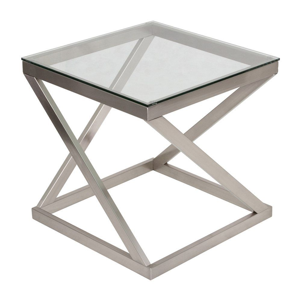 Ashley Furniture Signature Design Coylin Glass Top Square End Occasional End Table C Coffee Table Square Living Room Furniture Inspiration Glass End Tables [ 1000 x 1000 Pixel ]