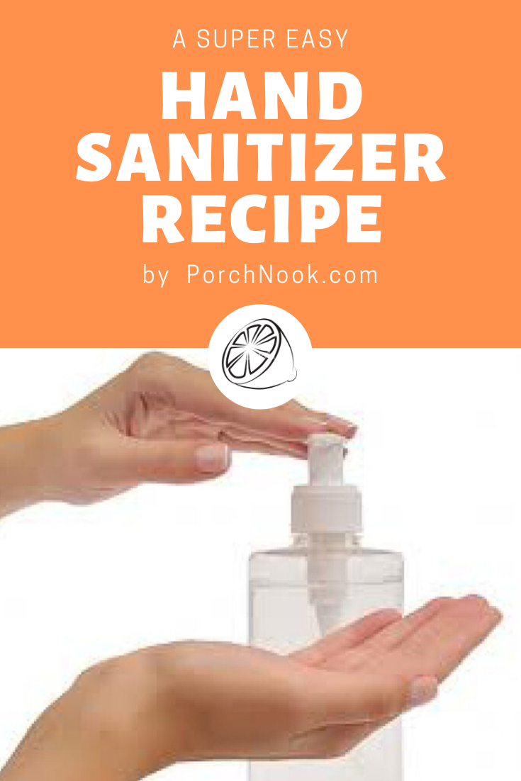 Easy Hand Sanitizer Recipe in 2020 Hand sanitizer