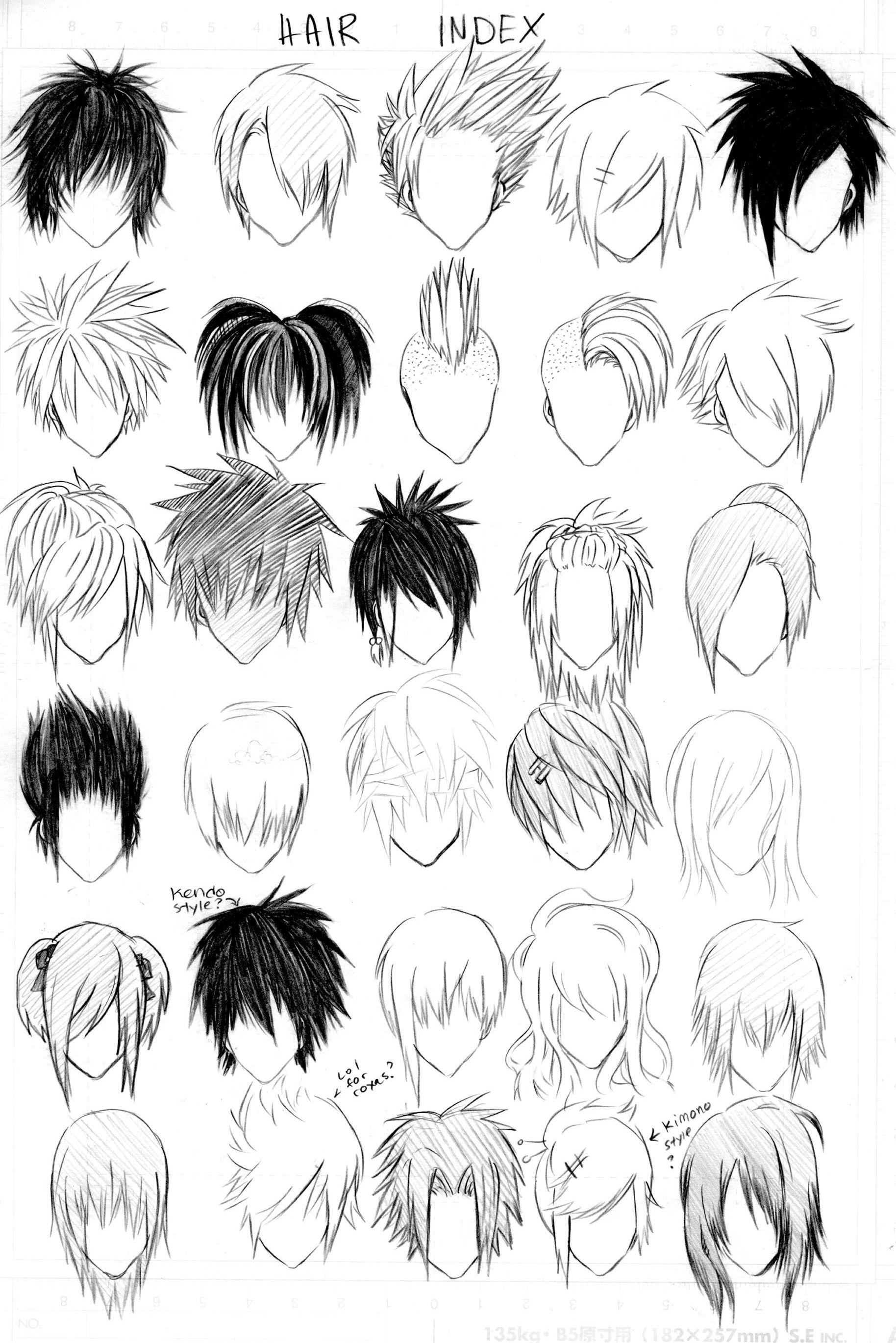 Boy hairstyle line hair index  drawing cartoons  pinterest  drawings anime and