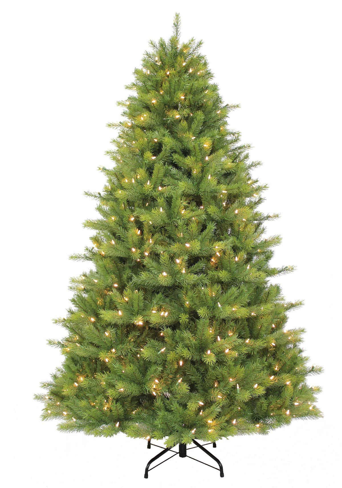 6ft Pre-lit Kensington Fir Feel-Real Artificial Christmas Tree ...