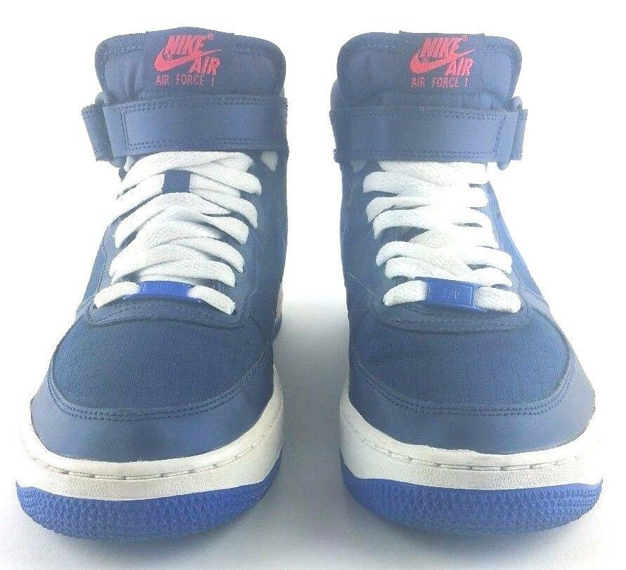 super popular 81d37 f1061 Nike Boys Shoes Air Force S1 GS Mid Midnight Navy Lyon Blue Crimson 314195- 412  NIKE  Athletic