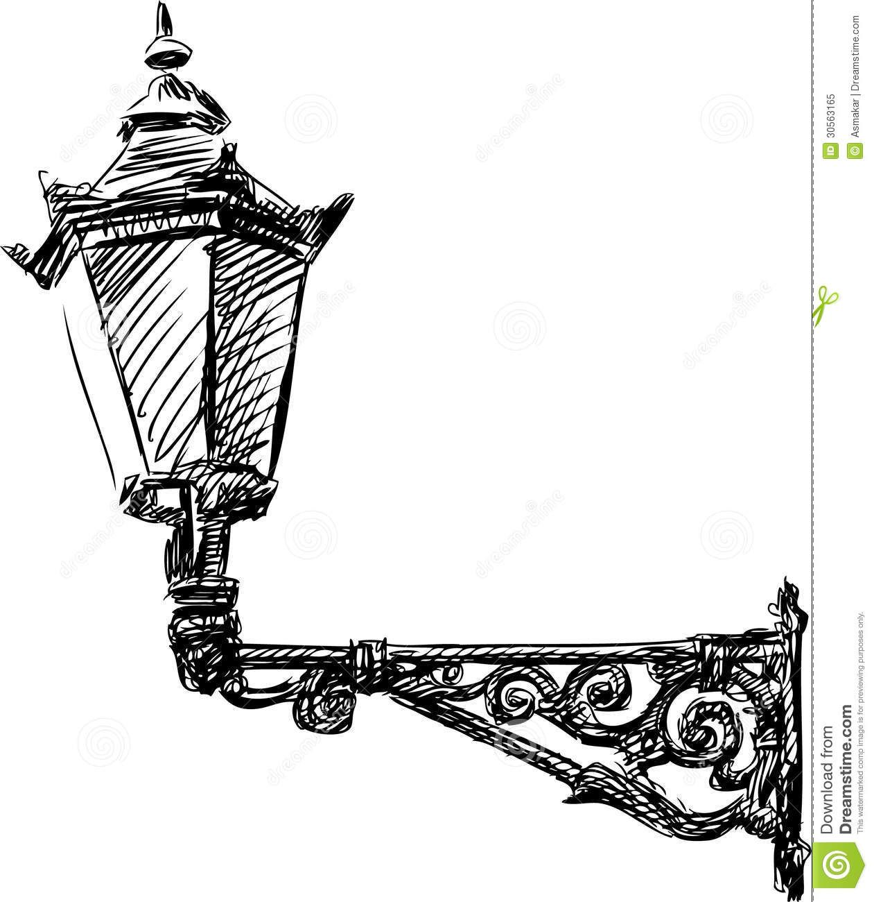 Street Light Royalty Free Stock Photo - Image: 30563165 | Drawings ... for Street Light Sketch  111bof