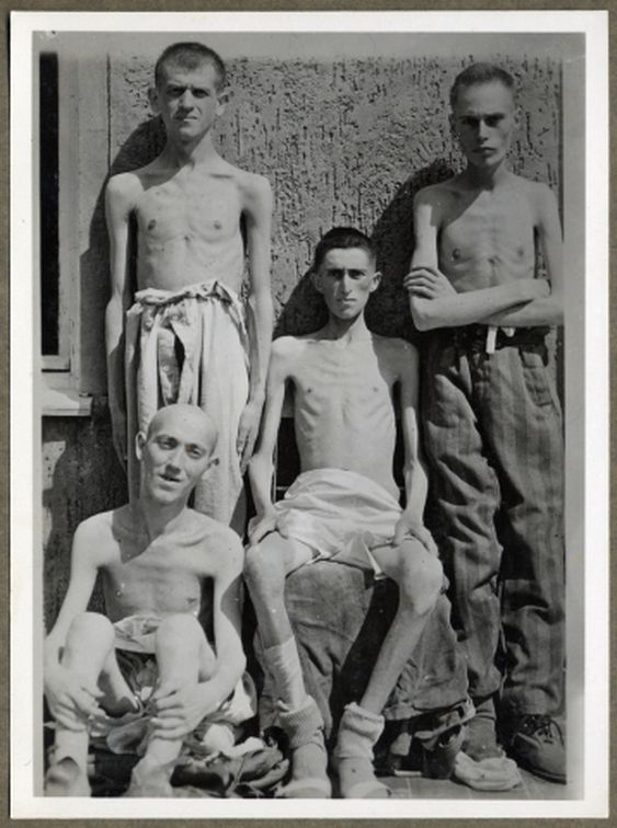 Shoulders Male nude concentration camps