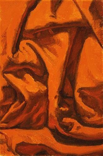 "Daily Paintworks - ""Composition in Orange"" - Original Fine Art for Sale - © Ski Holm"
