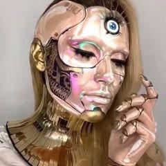 cyborg makeup  cyborg makeup halloween makeup looks