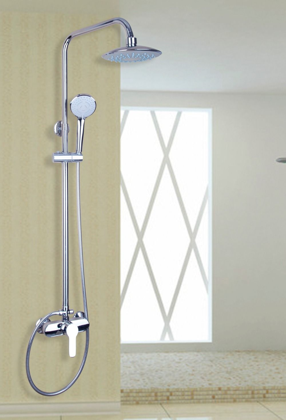 53606 Rainfall Hot Sale Chrome Widespread Waterfall Bathroom