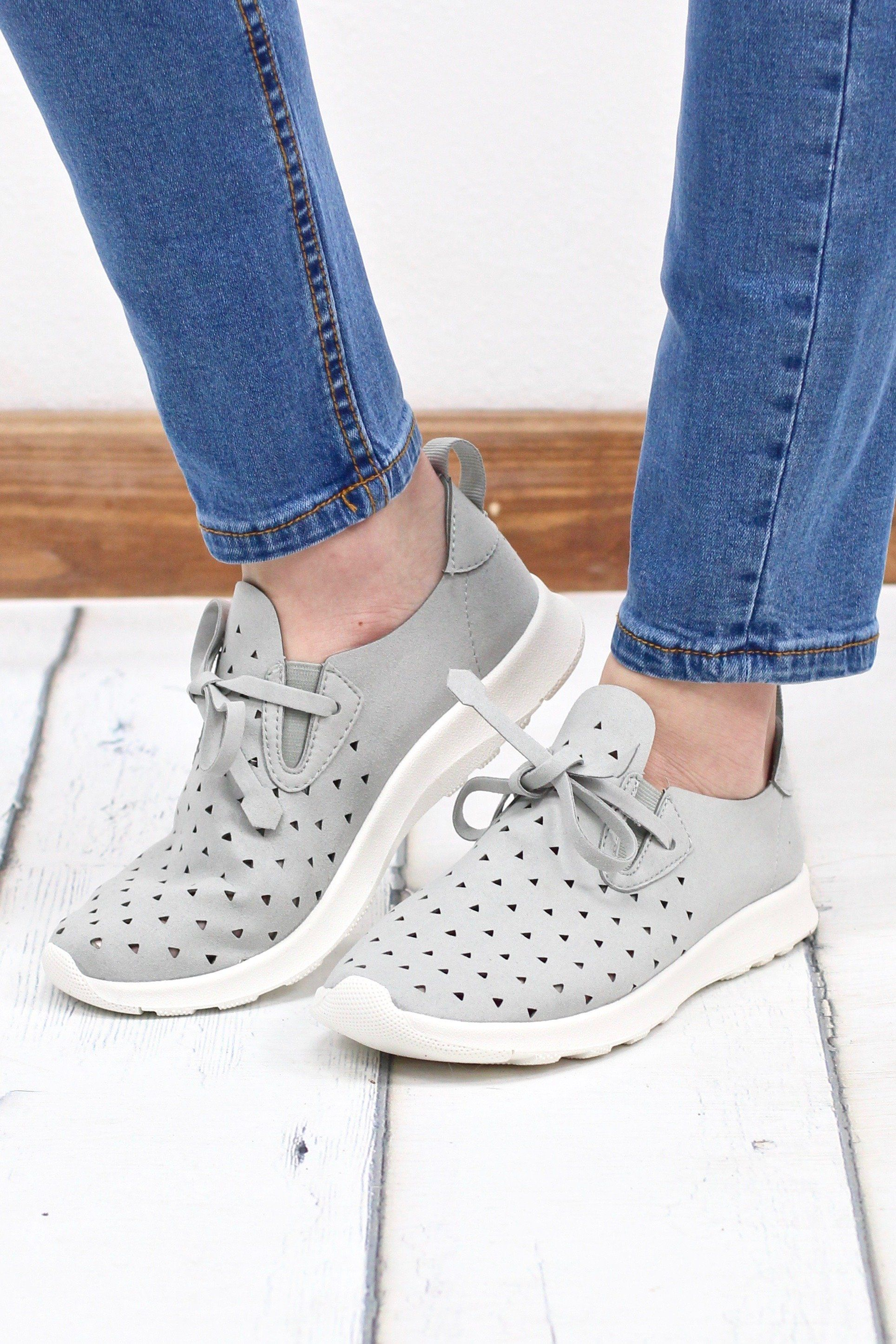 576a5ac6ec The BEST sneakers   tennis shoes ever! Memory foam soles will leave your  feet super comfy all day long! Cute light grey color that goes with  everything.