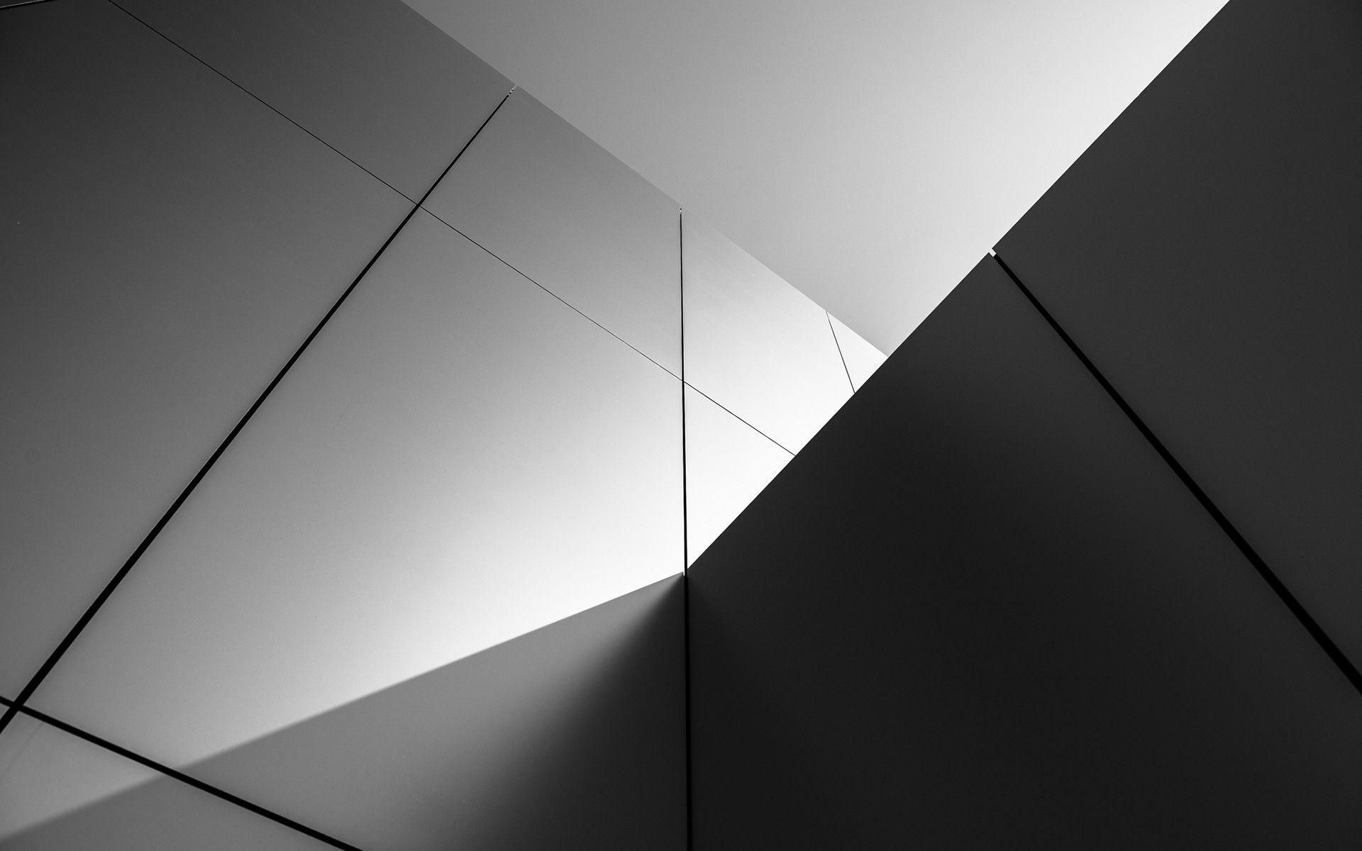 Black And White Abstract Desktop Wallpaper