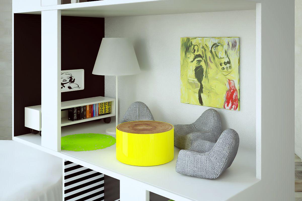 Boomini White, living room