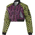 Women's Op Art Reversible Bomber Jacket, Acid Buzz / Intense Pink £220, I am inlove with this reversible bold print jacket, http://www.adidas.co.uk/originals_by_jeremy_scott the above website is where you can buy official Jeremy Scott for Adidas designs, trainers ranging from £105 - £255 and hoodies from £130-£220