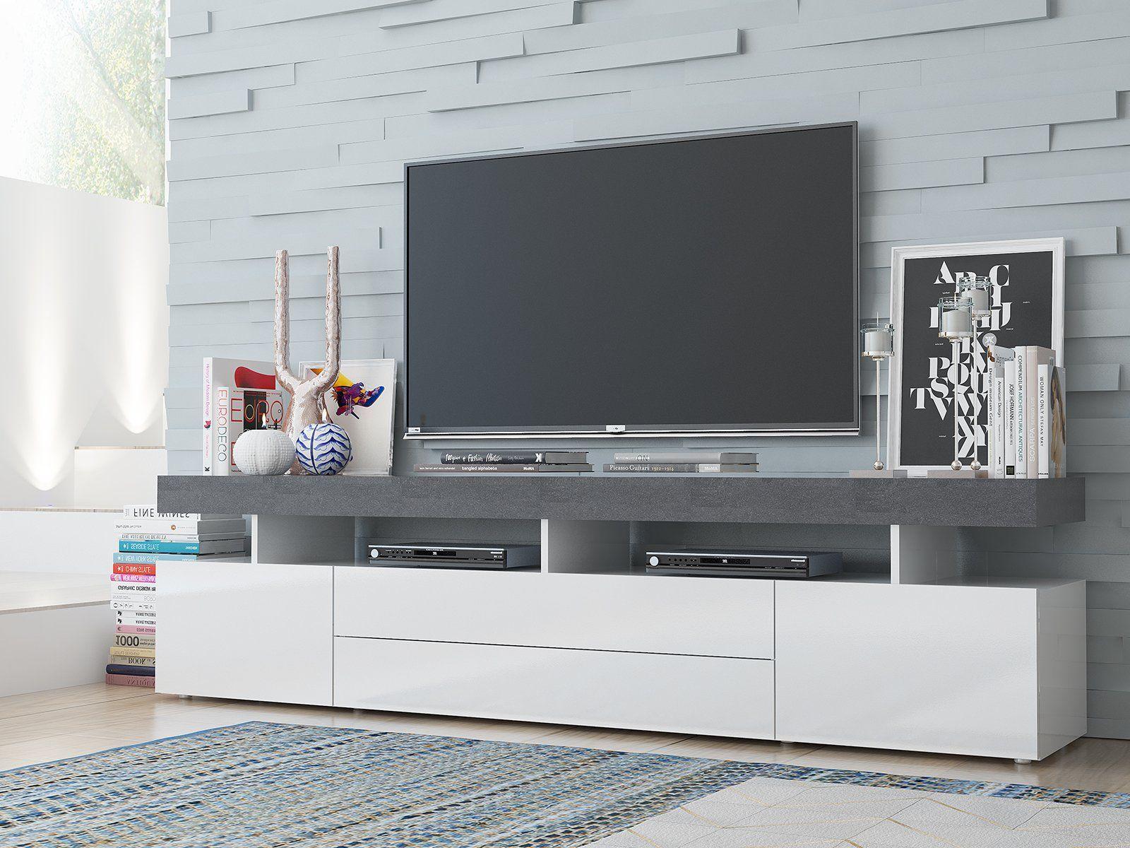 Tv Lowboard Fernsehtisch Unterschrank Sideboard Schrank Hifi Rack Treviso Ii In 2020 Tvs Inspiration Flat Screen