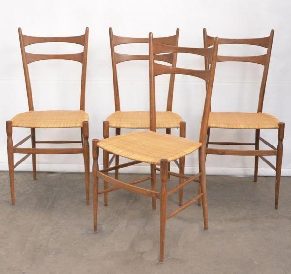 Quattro sedie chiavarine in legno di frassino produzione - Sedia di chiavari ...