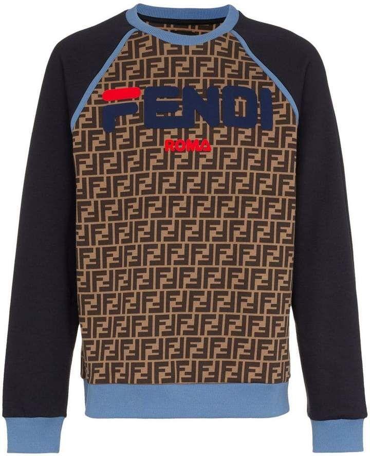 Fendi Mania logo sweatshirt   Products in 2019   Pinterest   Fendi ... 57f7d13cbfe