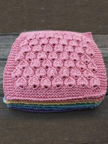 Raindrop Dishcloth | Yarn | Free Knitting Patterns | Crochet Patterns | Yarnspirations