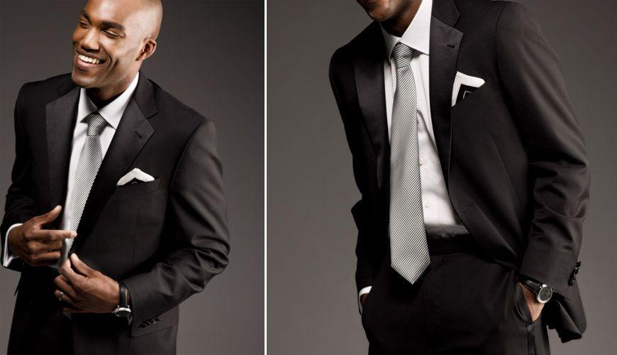 74ab08d591a6 modern elegance for groom /// black tuxedo, white tuxedo shirt, satin  necktie, pocket square, cufflinks photography by J. Garner Studios