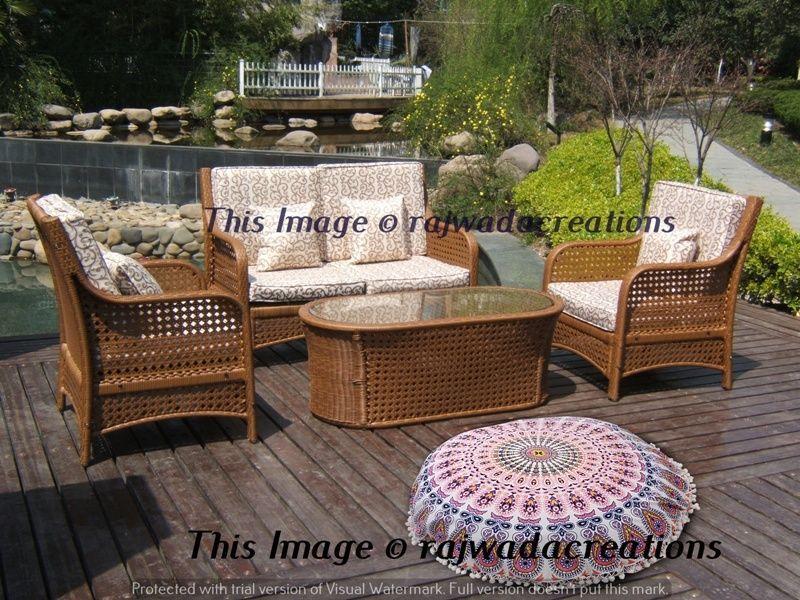 Home Indian Large Mandala Floor Pillows Round Bohemian Cushion Cushions  Cover. Resin Wicker FurnitureTable FurnitureOutdoor ... - Home Indian Large Mandala Floor Pillows Round Bohemian Cushion