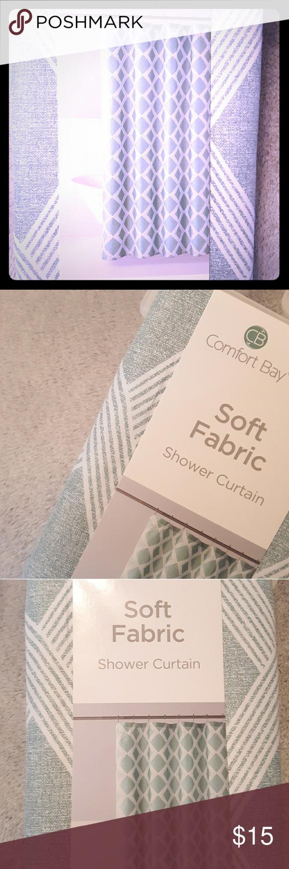 Comfort Bay Shower Curtain Soft Fabric Nib Diamond Comfort Bay