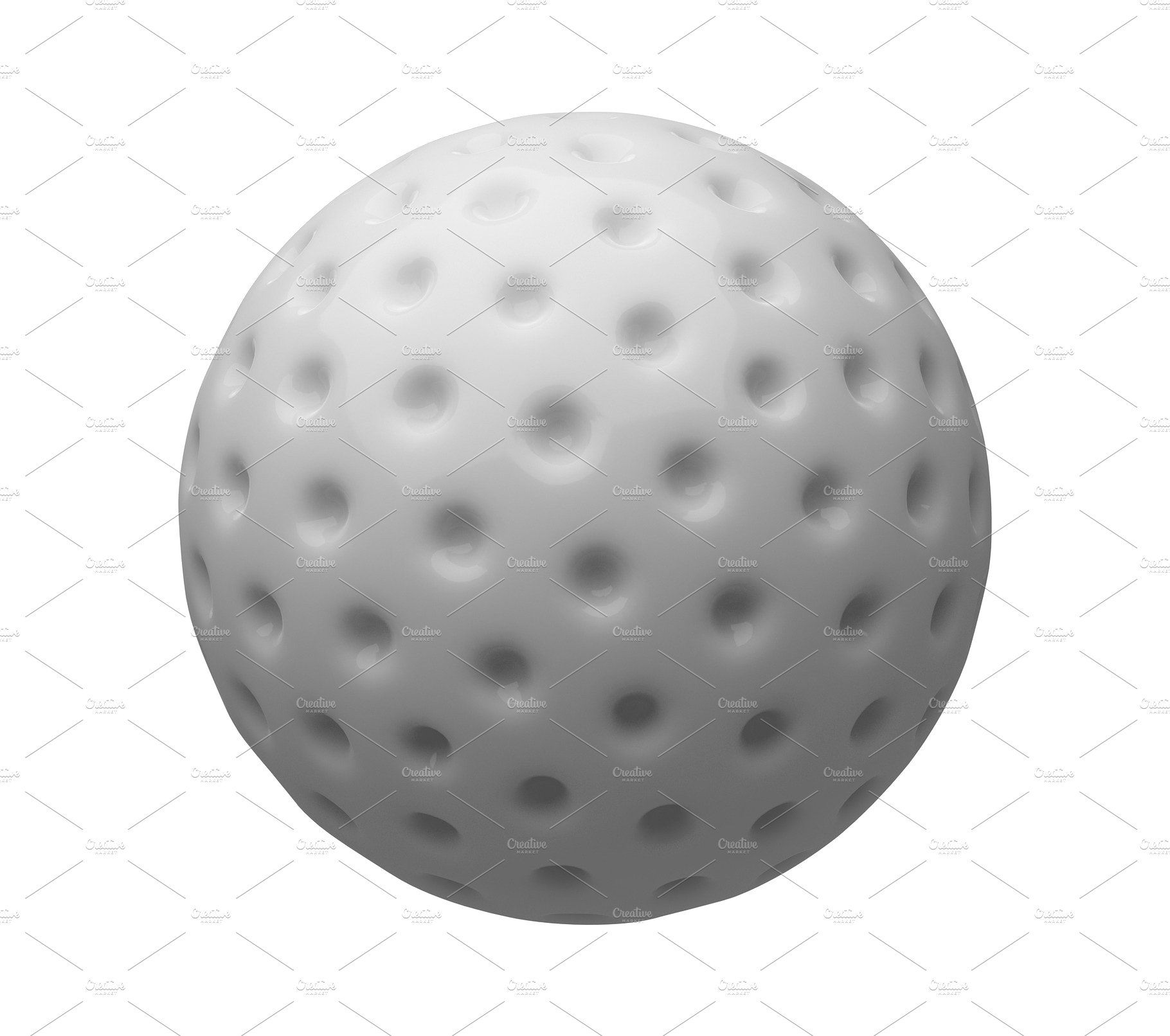 Golf Ball Isolated On White Background 3d Illustration 3d Illustration White Background Illustration