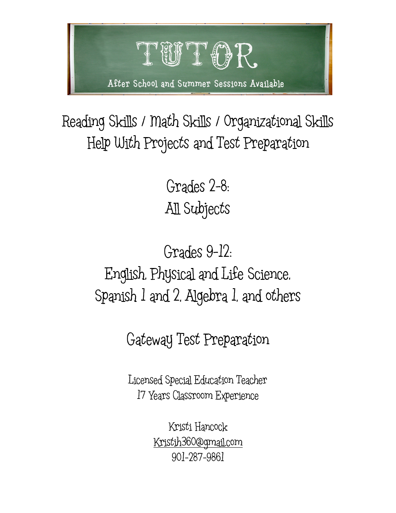 Tutoring Flyer  Google Search  Learning    Tutoring