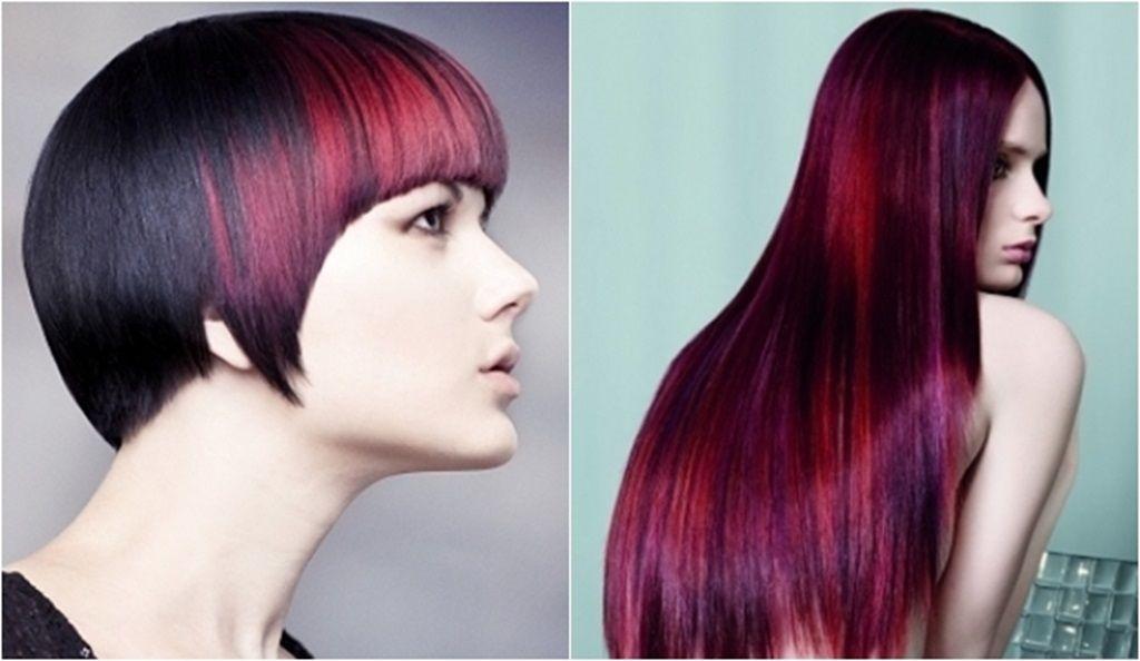 braune haare mit roten strähnen – haar farben trend rot 2016, Hause ideen