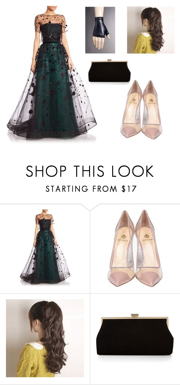 """Misty green"" by cloudysky321 ❤ liked on Polyvore featuring Carolina Herrera, Semilla and Monsoon"
