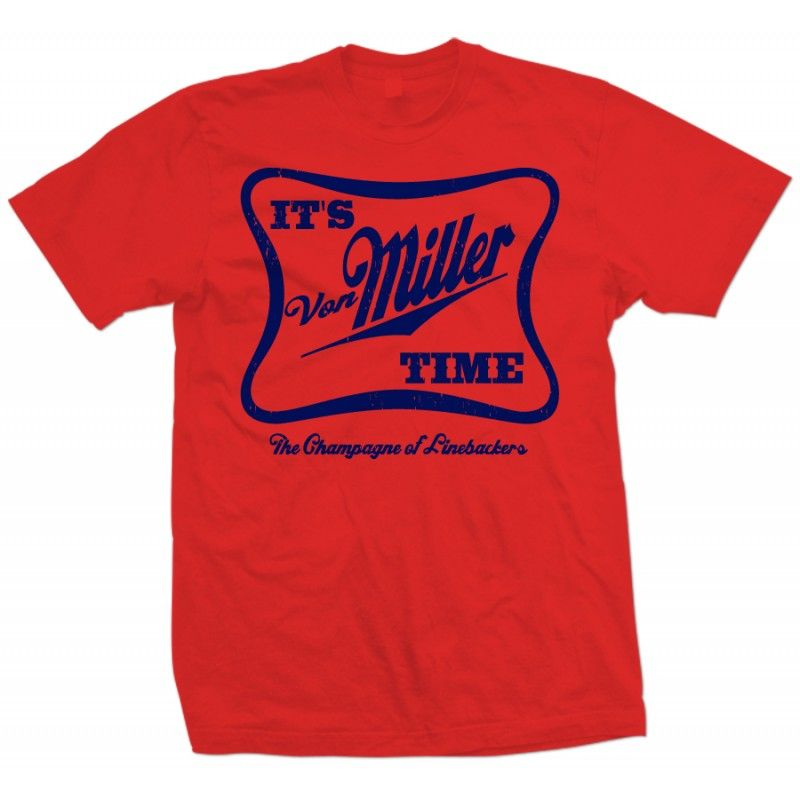 136cde7fe5d It s Von Miller Time The Champagne of Linebackers T Shirt Navy Print ...