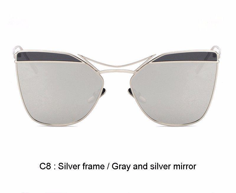 Oversize Cat Eye 2 Tone Color s1076