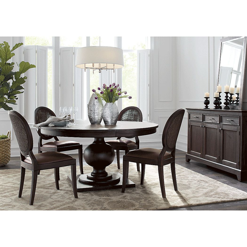 """Shop 60"""" Round Extendable Dining Table. Designer"""