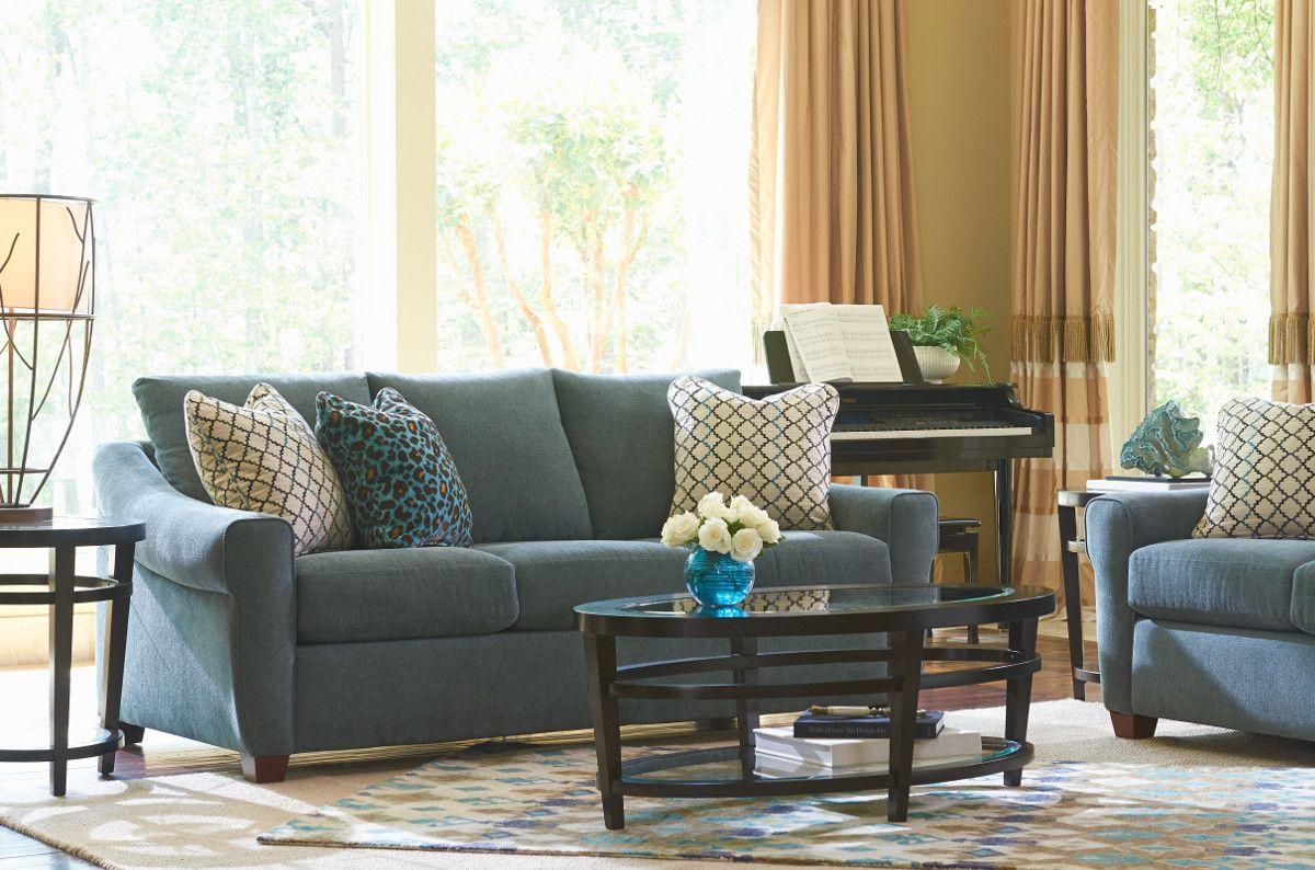 La-Z-Boy Keller Sofa | This sofa features elegant sloped arms and ...