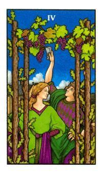 Four Of Wands Wands Tarot Tarot Cards Art Tarot Card Meanings
