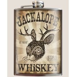 Fighting Hares Hip Flask