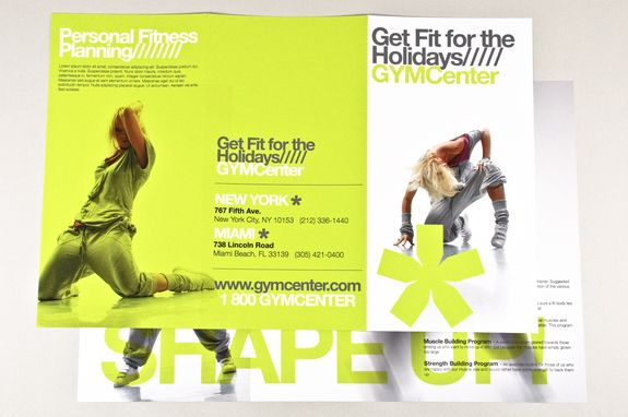 Contemporary Fitness Club Brochure Template  This Brochure Would