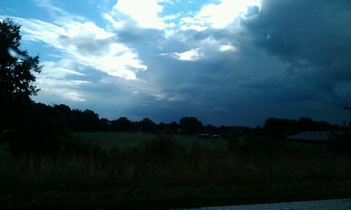 There is some rain comming...