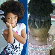 Cheveux crépus  15 coiffures pour petite fille