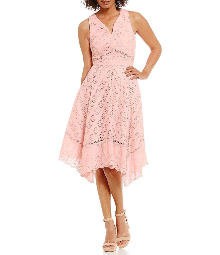f5080fc8c6 Antonio Melani Nat Eyelet Shirting Sleeveless Dress