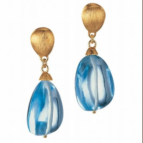 marco bicego - confetti - earrings with blue topaz
