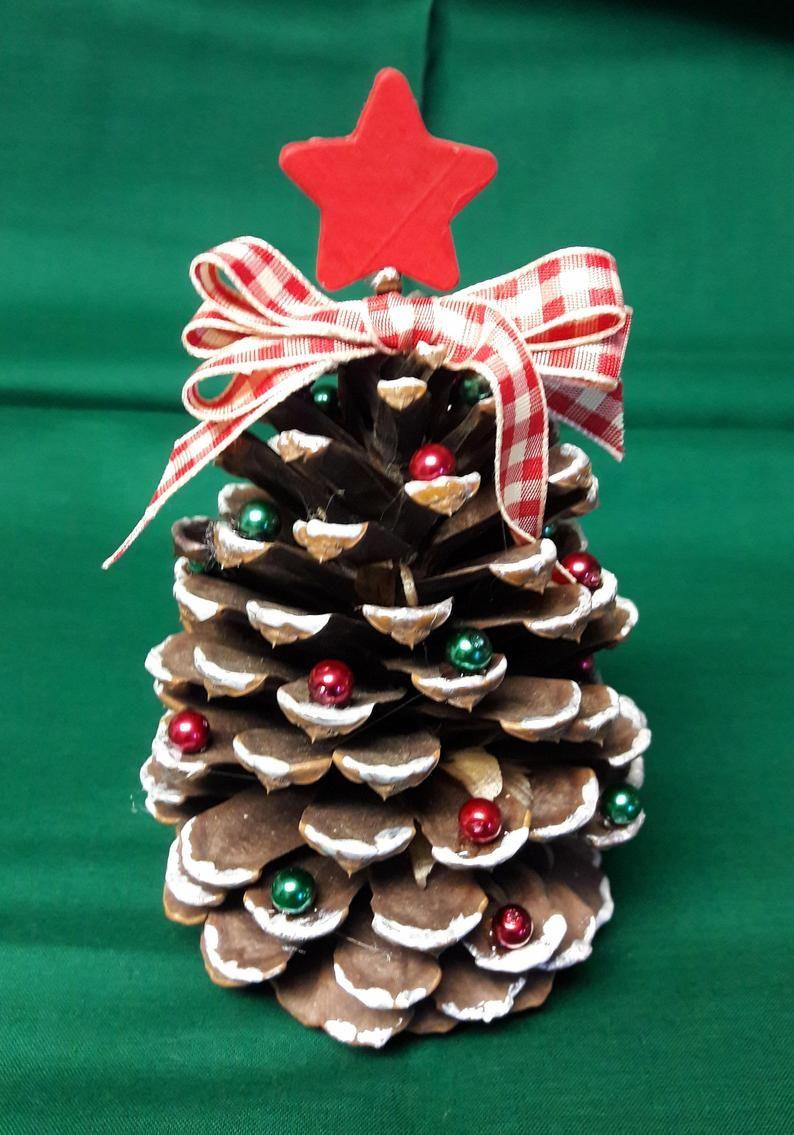 Pino Cono árbol de Navidad Cono de pino grande Tonos | Etsy | Manualidades navideñas, Decoracion piñas navidad, Decoracion navidad reciclado