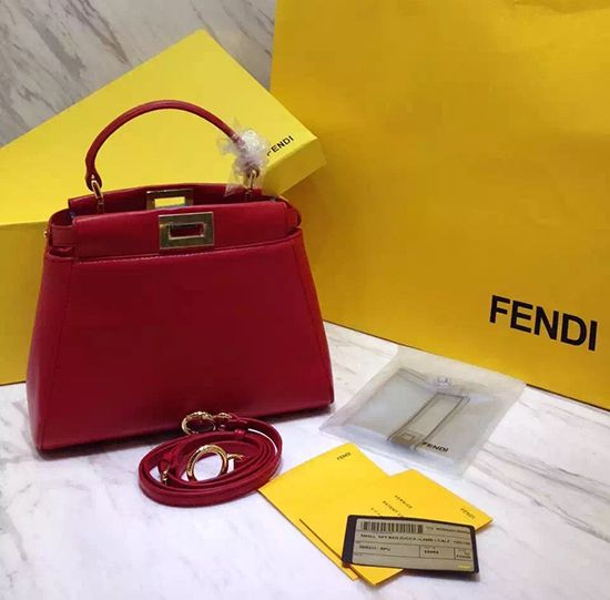Fendi Peekaboo Mini Burgundy