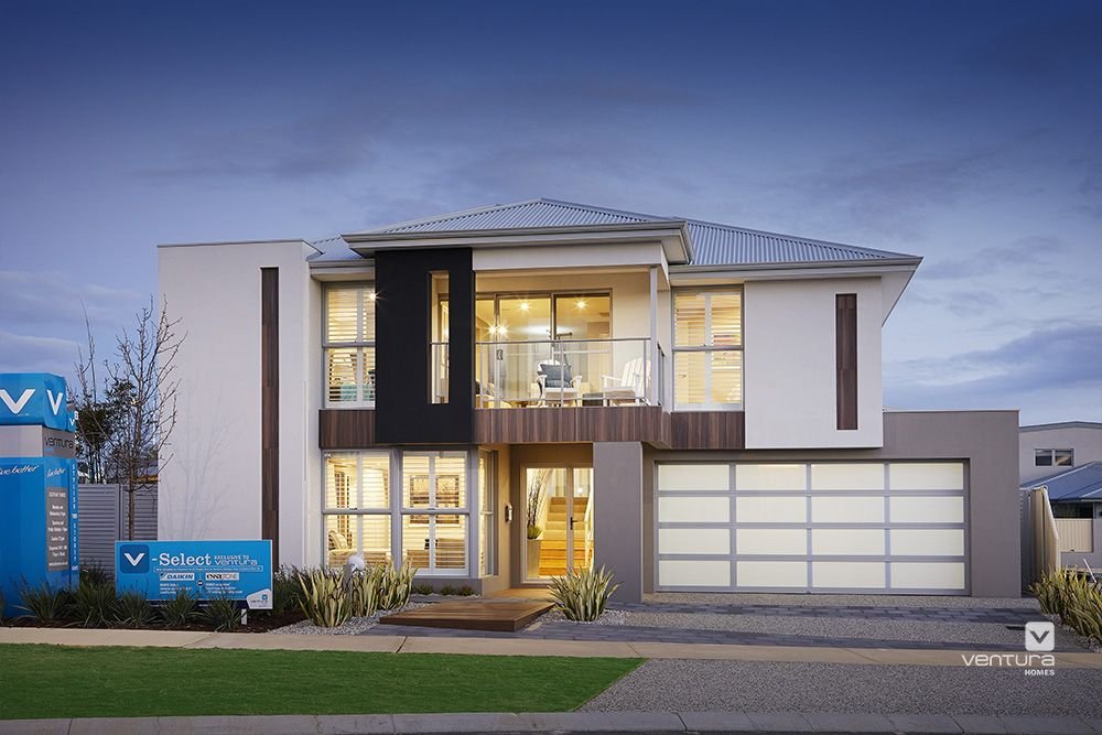 The Lexington Double Storey Display Home Elevation Facade House Venturahomes Display Homes Double Storey House House
