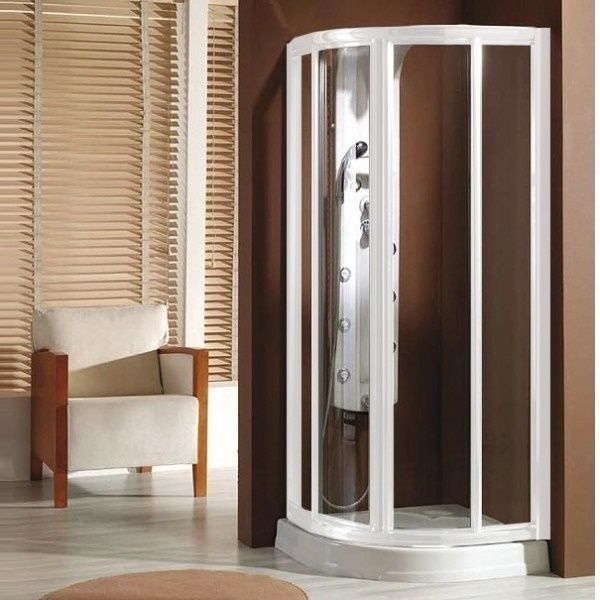 mampara de ducha modelo lucena 70x70 semicircular para