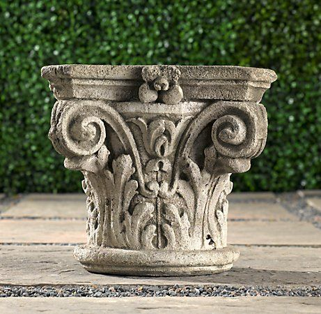 High Quality LONGWOOD CAPITAL PLANTER Sculpted With Scrolls And Acanthus Leaves, Our  Capital Is Of The Corinthian Order, Beloved In Ancient Greece And Rome, ... Ideas