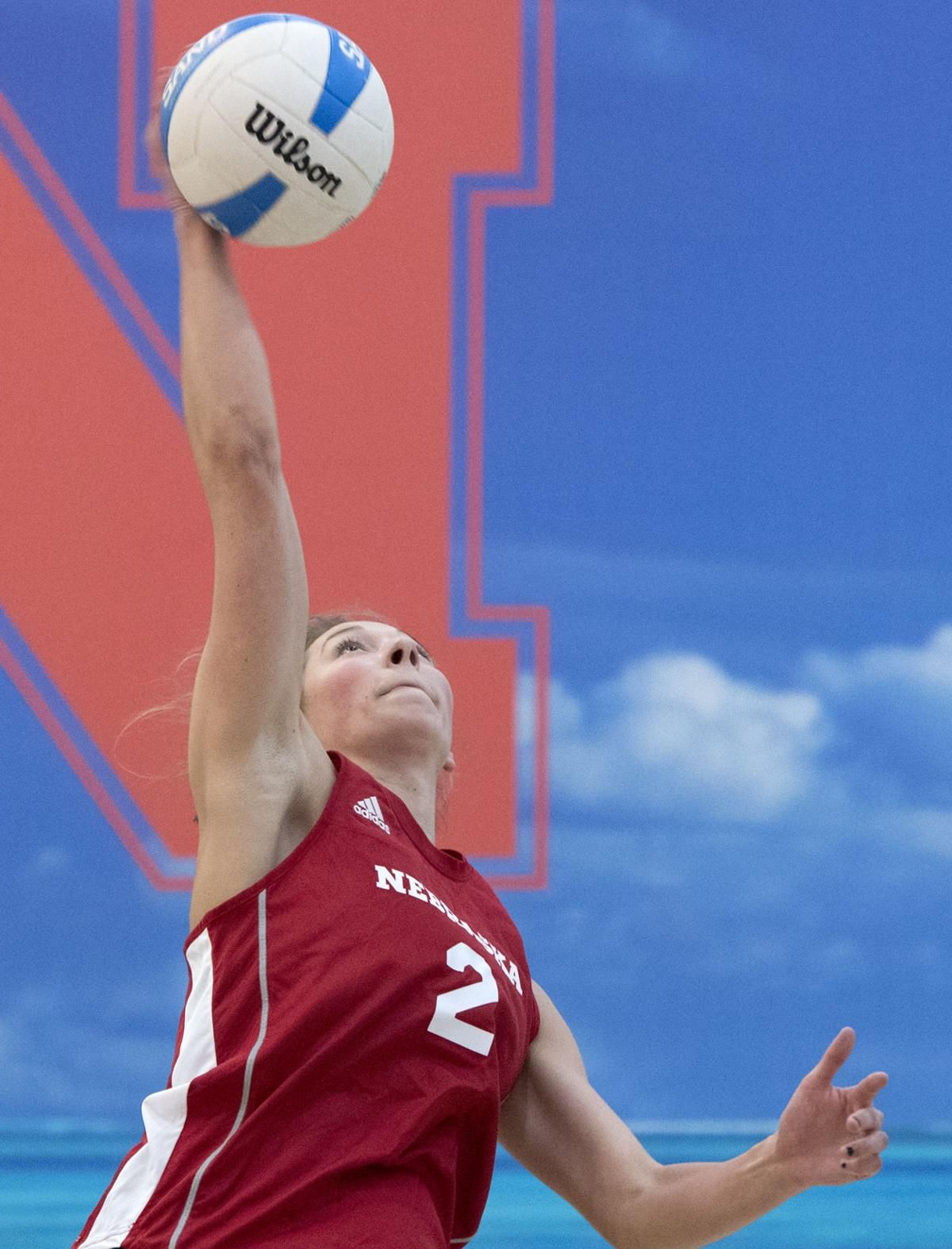 Photos Huskers open beach volleyball season against