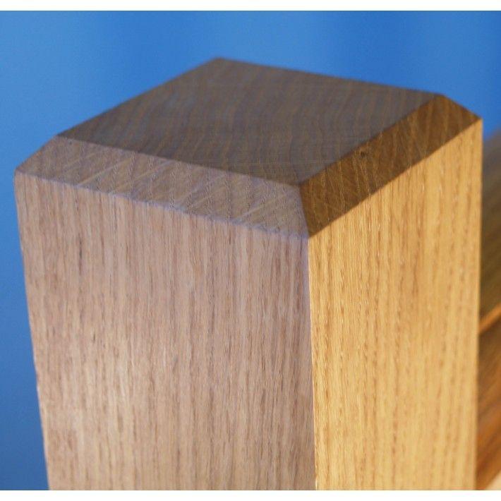 European Oak Newel Post 90mm X 90mm With Chamfered Top Square Newel Post Oak Newel Post Stair Newel Post