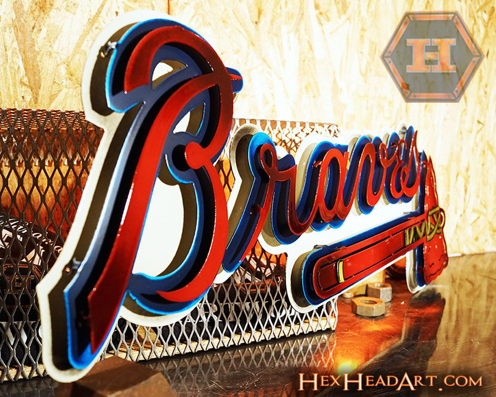 Atlanta Braves Tomahawk 3d Metal Artwork Metal Artwork Braves Tomahawk Atlanta Braves