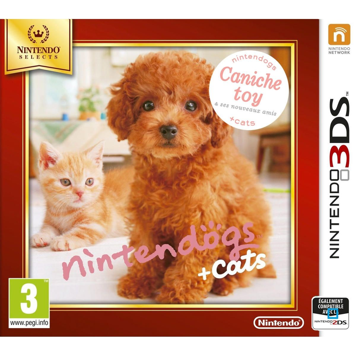Nintendogs Cats Caniche Toy Nintendo Selects 3ds Taille Tu